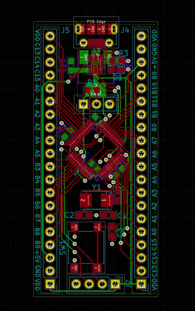 STM32F070 Layout